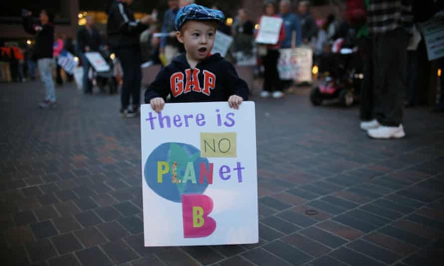 A climate change rally in San Diego, California, after the Senate confirmed Scott Pruitt to head the Environmental Protection Agency.