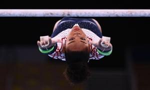 The French gymnast Melanie De Jesus Dos Santos