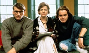 Christopher Eccleston with Kerry Fox and Ewan McGregor in Shallow Grave