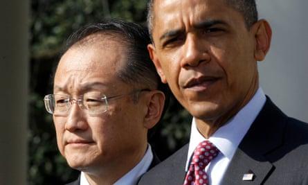 Barack Obama and Jim Yong Kim