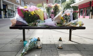 Flowers left at The Stow in Harlow.
