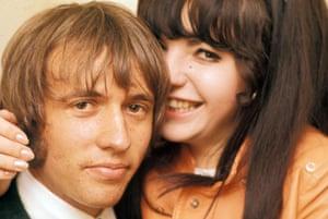 Bee Gee and she … Maurice Gibb with Sarolta Zalatnay in 1969.