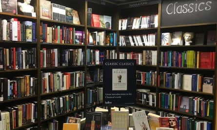 Inside Heffers bookstore in Cambridge, UK