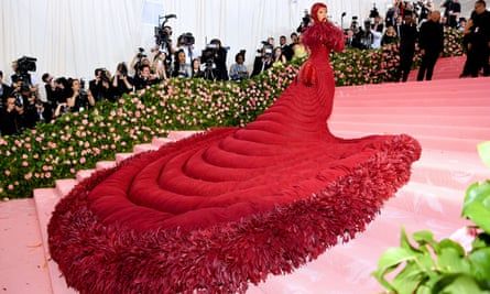 Stepping it up … Cardi B at the Met Gala.