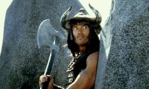 Arnold Schwarzenegger as Conan the Barbarian in the 1982 film.