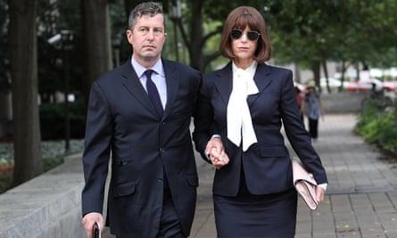Sam Patten leaves court in Washington.