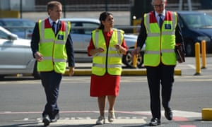 Michael Gove (right), Priti Patel and Grant Shapps during a visit to the Port of Dover