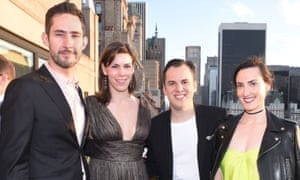 Kevin Systrom with wife Nicole Schuetz, Mike Krieger with wife Kaitlyn Trigger