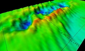 A 3D map showing the seabed site of HMS Exeter after the ship had been removed