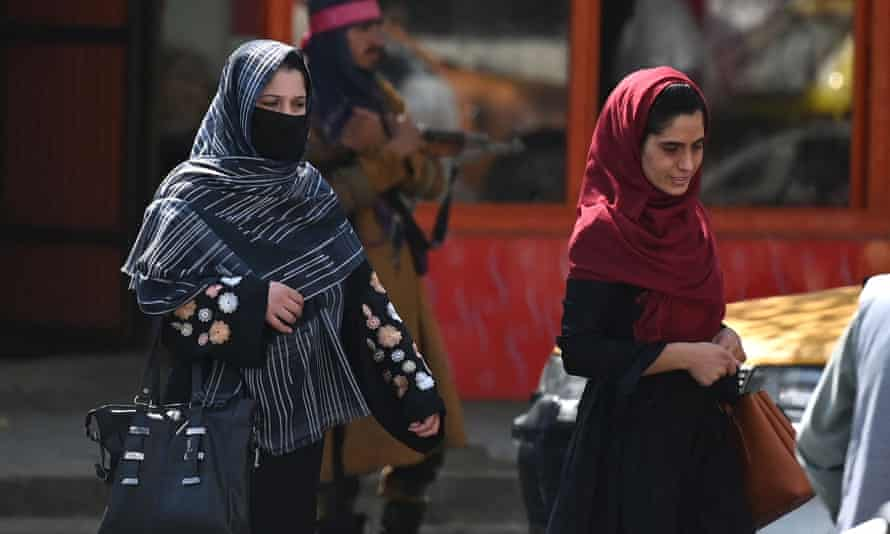 Afghan women in Kabul on September 2, 2021