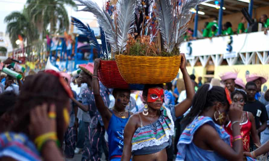 Carnival revellers in Port-au-Prince.