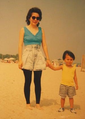 Ocean Vuong and his mother.