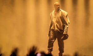 Kanye West … On stage earlier this month.