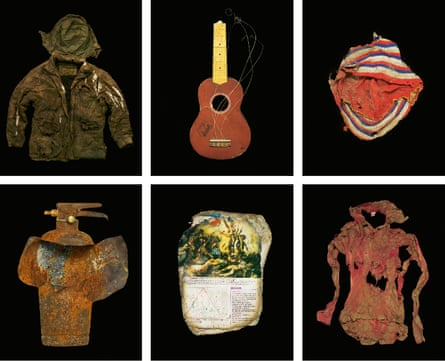 Assorted toys and clothing collected between May and October this year. With no electricity in the camp, many possessions were accidentally burned.