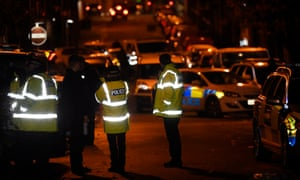 Police at the scene of the shooting in Luton.