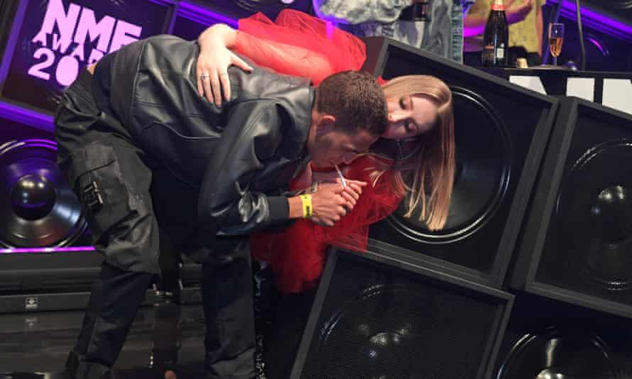 Slowthai and Katherine Ryan at the NME awards