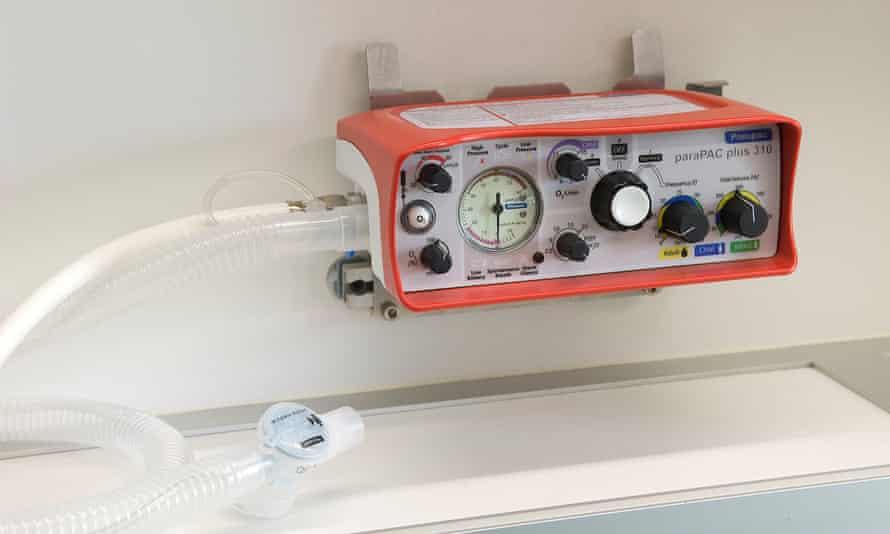 A ParaPac Plus ventilator