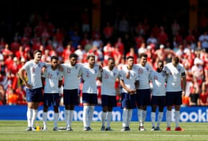 England players look on during the penalty shootout.