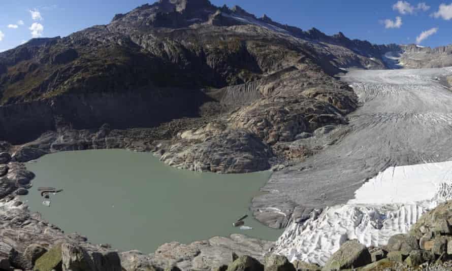 The Rhône glacier in the Swiss Alps