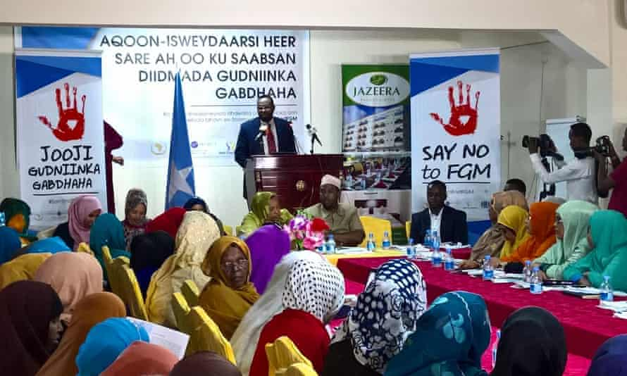 Somalia's attorney general at the Zero Tolerance to FGM meeting in Mogadishu this week.