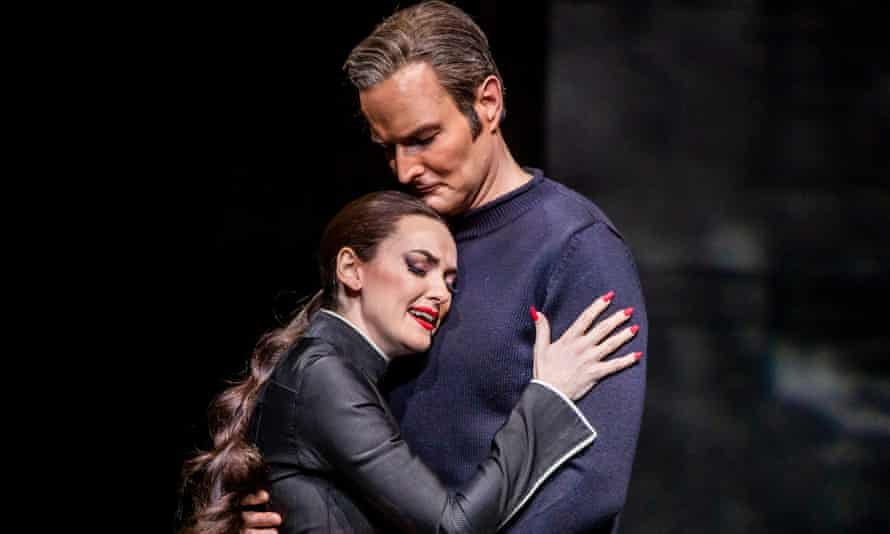 Gloriously imperious ... Jennifer France and Nicholas Lester in Orphée by Philip Glass.