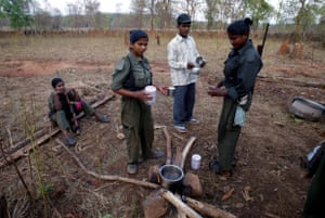 Naxalite members – officially the Communist Party of India (Maoist) – April 2007.