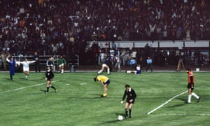 Arsenal's Graham Rix reacts after Valencia goalkeeper Carlos Pereira saved his penalty to win the shootout in the European Cup Winners Cup Final