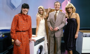 Pauperised for the UK ... Nicholas Parsons with hostesses Carole Ashby and Karen Loughlin on Sale of the Century.