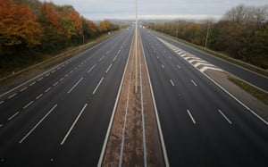 The M5 motorway near junction 8 at 0845