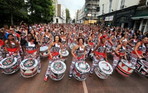 Samba drumming band Batala perform