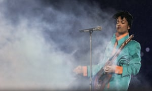 'Mystical': Prince, one of the subjects of Abdurraqib's essays, performing at the Super Bowl in 2007