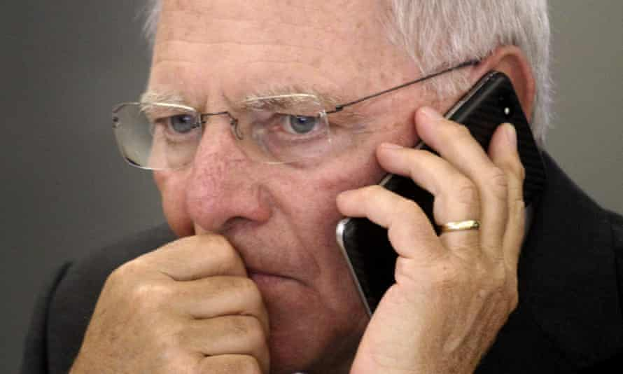 Wolfgang Schäuble: 'an ordinary politician repeating old mistakes'.