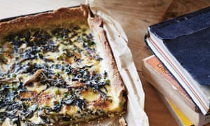 Annabel Crabb's chard and cheese tart with poppy seed pastry