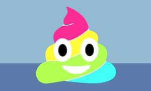 rainbow Poop emoji for long read