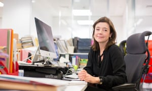 Juliette Garside at her desk in the Guardian's London offices.