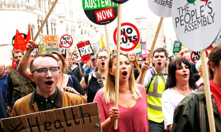 Marching against Tory cuts in London in 2015.