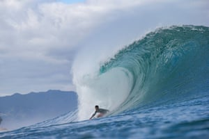 The Japanese surfer Shota Nakamura competes in Oahu, US