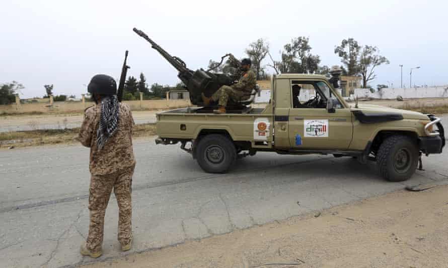Forces led by Khalifa Hiftar, south of Tripoli