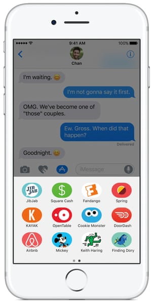 The Messages app has been redesigned to offer more expression options with the iOS 10 software update.