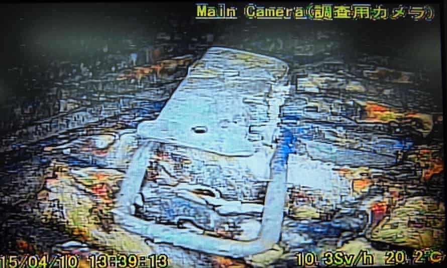 The remote-control survey robot stopped functioning inside the damaged reactor vessel during the mission but the robot recorded captured images and collected data, including on radiation levels inside the vessel.