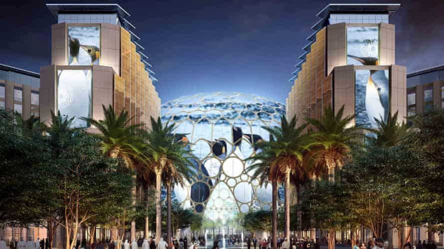 An artist's impression of Expo 2020 in Dubai