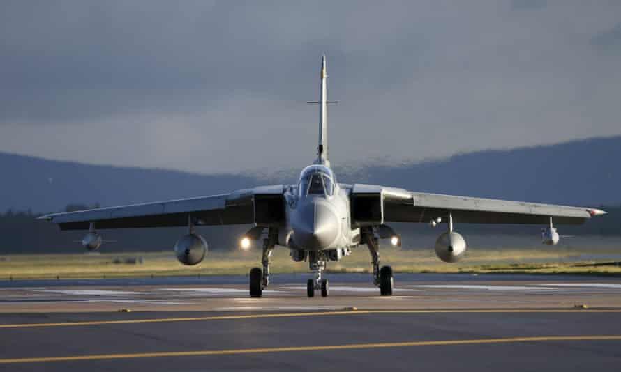 An RAF Tornado at RAF Lossiemouth, Scotland.