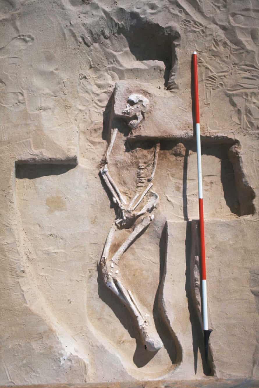 The 40,000-year-old remains of Mungo Man.