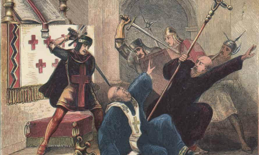 Thomas Becket was hacked to death by four knights in Canterbury Cathedral in 1170 after the archbishop clashed with King Henry II.