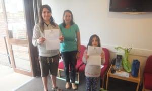 Thomas and Ellie Barnes receiving their GCSE