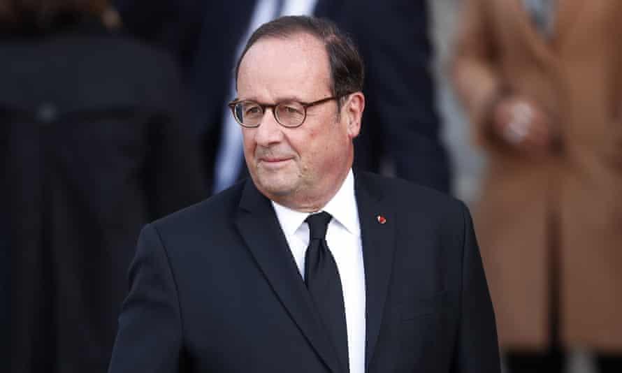 French former president Francois Hollande.