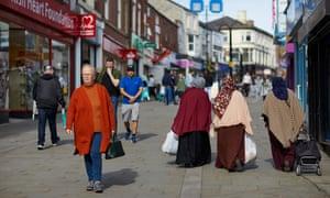 Shoppers in Rochdale
