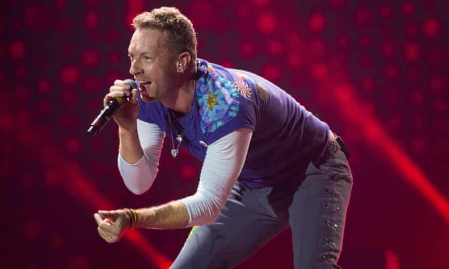 Chris Martin performing in 2017