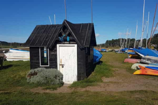 The Ferryman's Hut, a tiny local history museum in the black wooden hut from which passengers would be rowed across the Aln