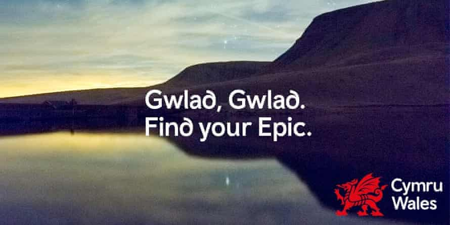 Find your epic with a Visit Wales advert.
